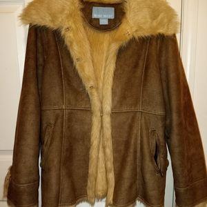 Nine west fur lined coat